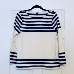J Crew Striped Cotton Top